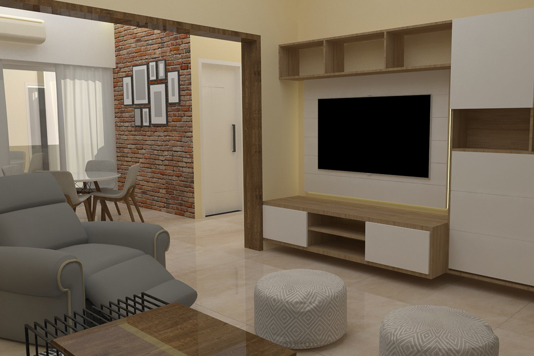 tv unit design by Studio Square Design Co by Studio Square Design co.