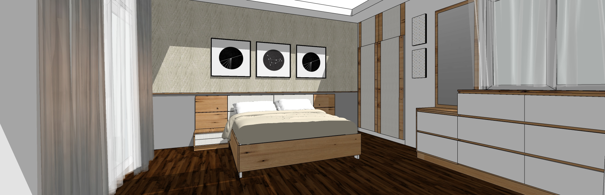 MASTER BEDROOM by Studio Square Design Co by Studio Square Design co.