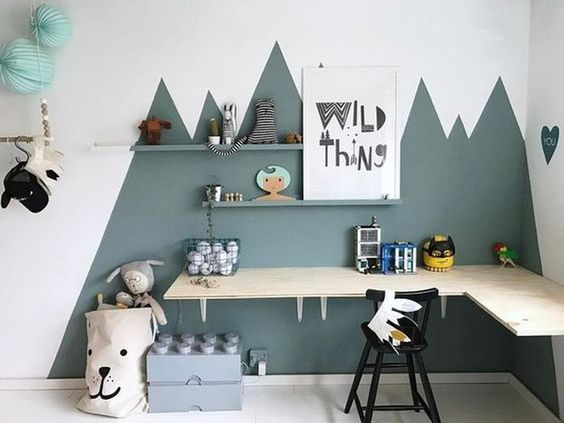 Blue theme for kids room