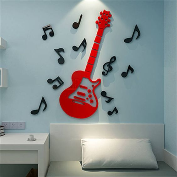 Guitar theme for kids room