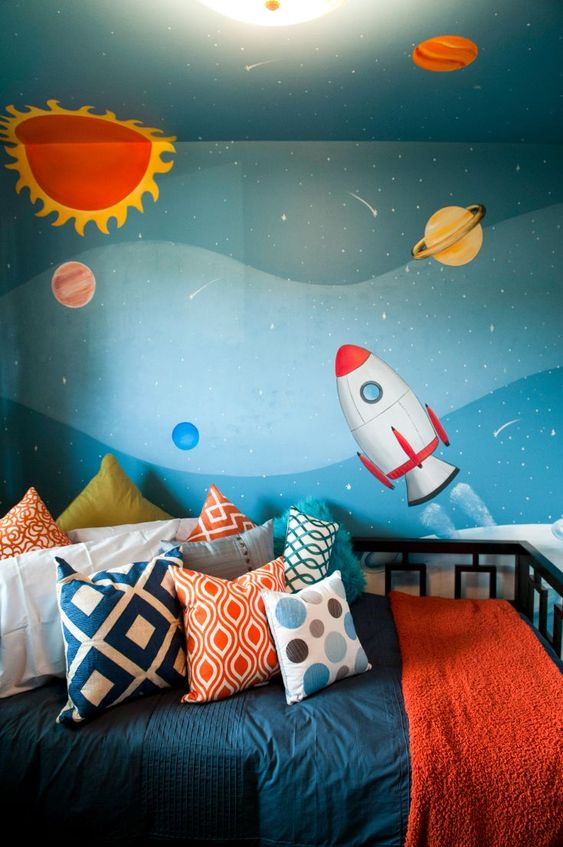 all space theme for kids room