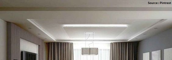 minimalist false ceiling
