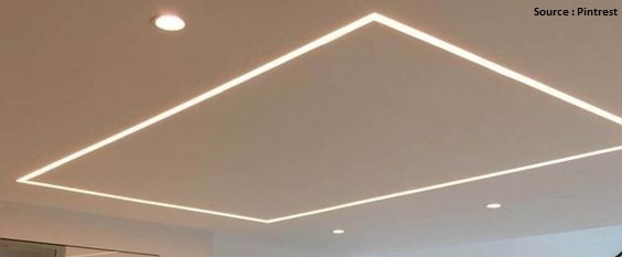 false ceiling with profile lights