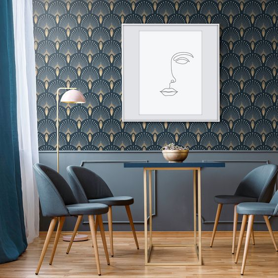 Wallpaper for accent wall Idea